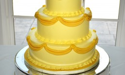 50th Golden Anniversary Tiered Cake