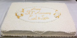50th golden anniversary sheet cake