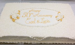 50th golden anniversary sheet cake